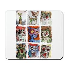 9 zombie cats Mousepad