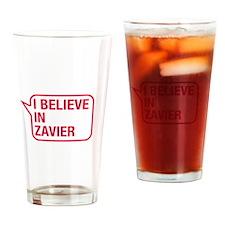 I Believe In Zavier Drinking Glass
