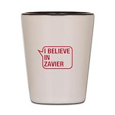 I Believe In Zavier Shot Glass