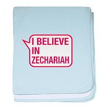 I Believe In Zechariah baby blanket