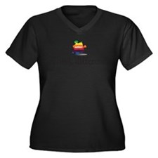 think different Women's Plus Size V-Neck Dark T-Sh