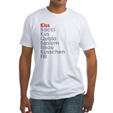 kiss.png Fitted T-Shirt