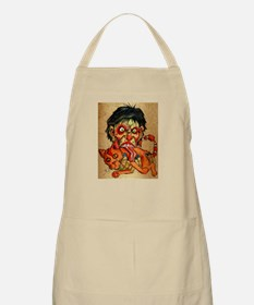 zombie eating bacon cat Apron