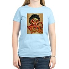 zombie eating bacon cat T-Shirt