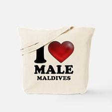 I Heart Male, Maldives Tote Bag