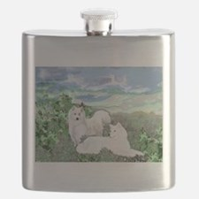 samoyed blanket.jpg Flask