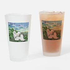 samoyed blanket.jpg Drinking Glass