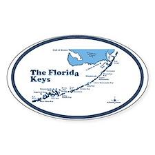 Florida Keys - Map Design. Decal