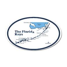 Florida Keys - Map Design. Wall Decal