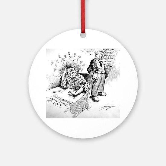 Political Cartoon Ornament (Round)
