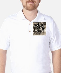 Penny Farthing Bicycle Gang Golf Shirt