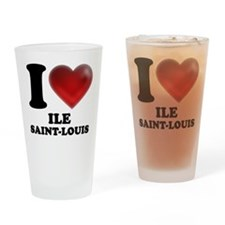 I Heart Ile Saint-Louis Drinking Glass