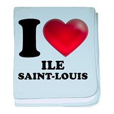 I Heart Ile Saint-Louis baby blanket