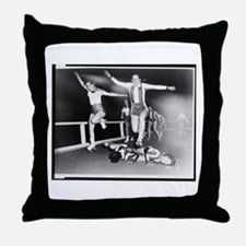 Acrobatic Roller Derby Throw Pillow