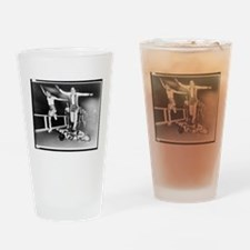 Acrobatic Roller Derby Drinking Glass