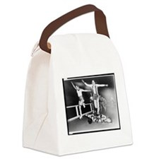 Acrobatic Roller Derby Canvas Lunch Bag