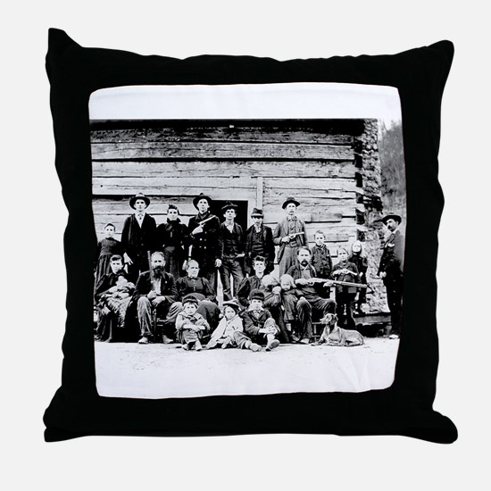 The Hatfield Clan Throw Pillow