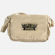 Dogs On A Couch Messenger Bag