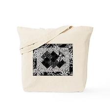 Larissa - Black and White Card Trick pattern Tote