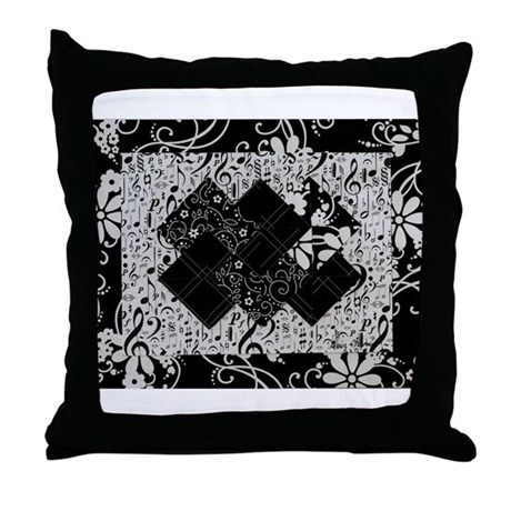 Larissa - Black and White Card Trick pattern Throw