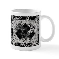 Larissa - Black and White Card Trick pattern Mug