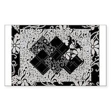Larissa - Black and White Card Trick pattern Stick
