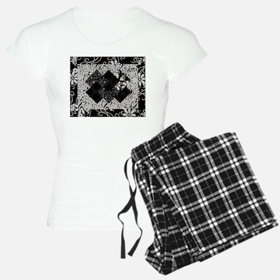 Larissa - Black and White Card Trick pattern Women