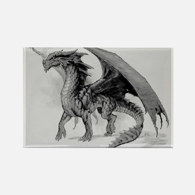 Black Dragon Rectangle Magnet