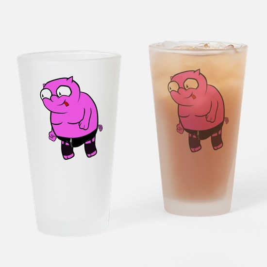 Kinky Piggy Drinking Glass