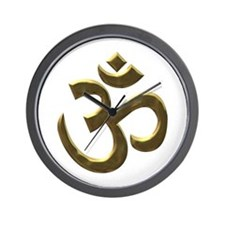 gold ohm.png Wall Clock