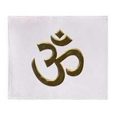 gold ohm.png Throw Blanket