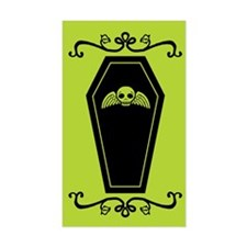 Cute Coffin Green And Black Decal