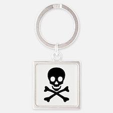 Skull & Crossbones Square Keychain