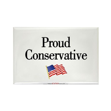 """Proud Conservative"" Rectangle Magnet"