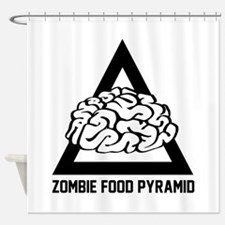 Zombie Food Pyramid Shower Curtain