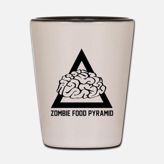 Zombie Food Pyramid Shot Glass
