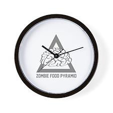 Zombie Food Pyramid Wall Clock