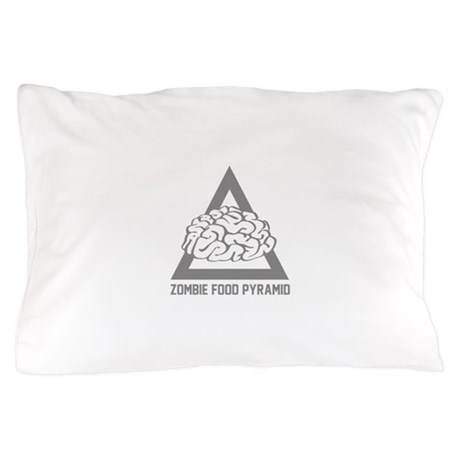 Zombie Food Pyramid Pillow Case