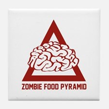 Zombie Food Pyramid Tile Coaster