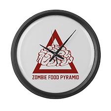 Zombie Food Pyramid Large Wall Clock
