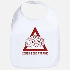 Zombie Food Pyramid Bib