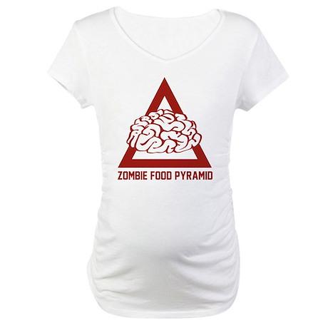 Zombie Food Pyramid Maternity T-Shirt