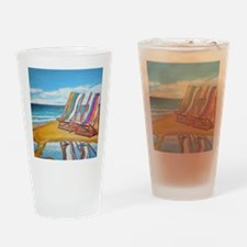 Beach Chair Reflection Drinking Glass