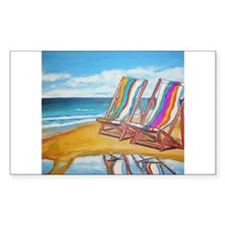 Beach Chair Reflection Decal