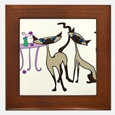 Siamese Cats looking for mischief Framed Tile