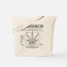 Vitruvian Grass Tote Bag