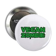 "Vegan Zombie 2.25"" Button (100 pack)"
