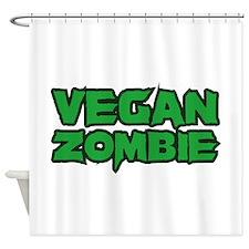 Vegan Zombie Shower Curtain