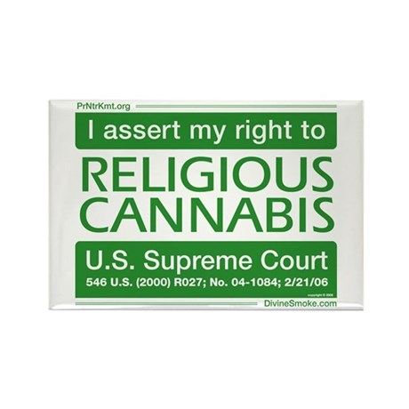 Religious Cannabis Rectangle Magnet (100 pack)
