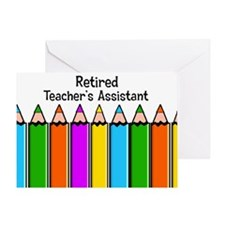 teachers assistant retired Greeting Card